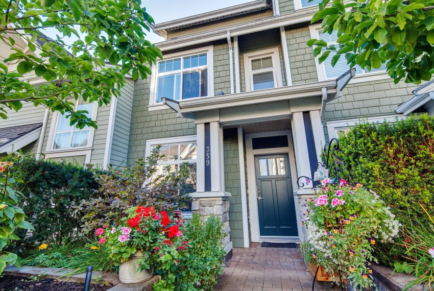 front of townhouse for sale at 359 W 59th Avenue Vancouver