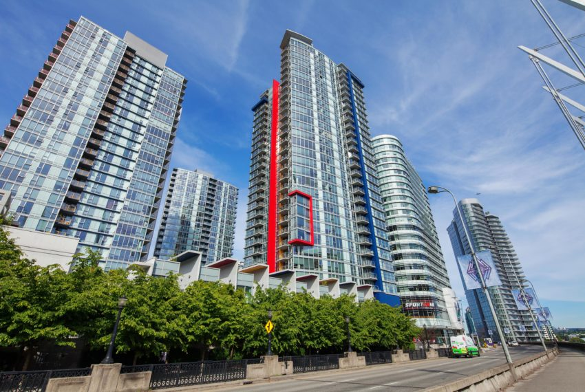 Side Of Building of condo for sale located at 3101 - 111 W Georgia Vancouver BC