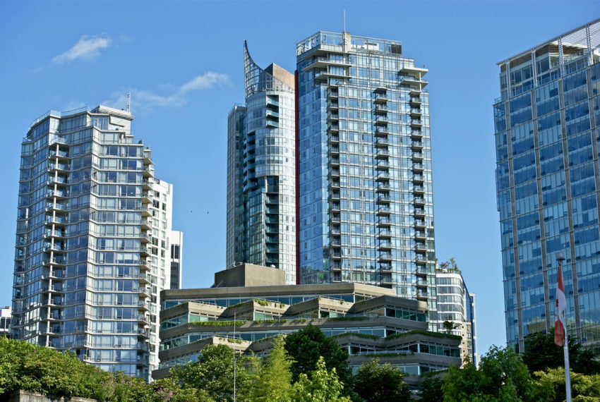 Condo buildings in Vancouver