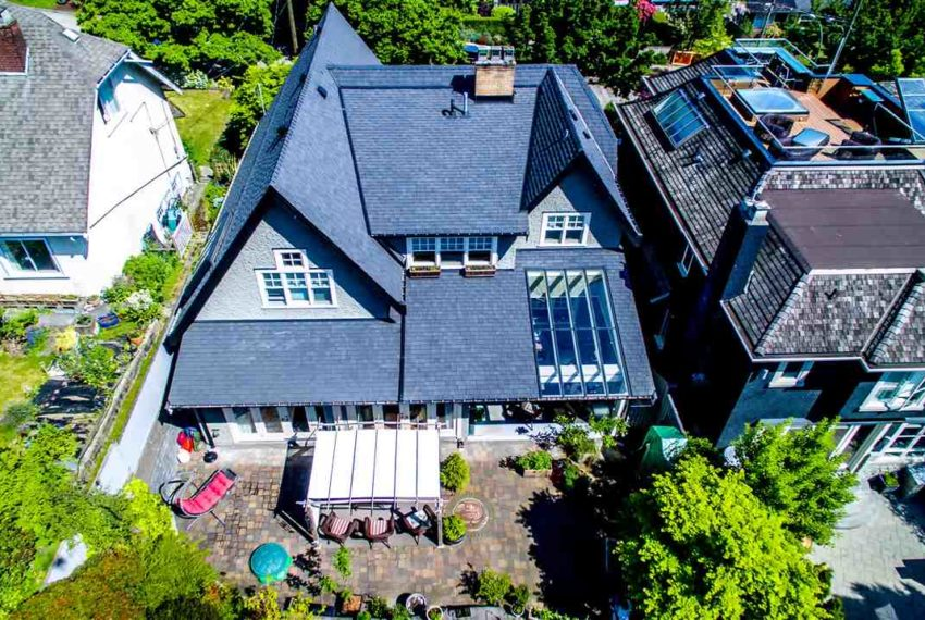 aerial view of point grey house for sale