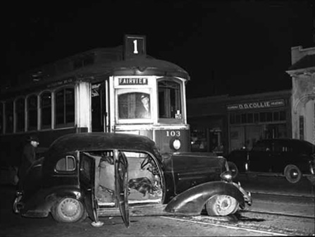 Broadway & Hemlock - Fairview Trolley Accident 1943